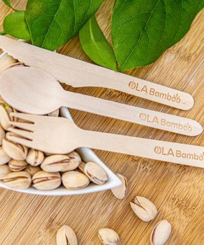 Biodegradable fork, knife and spoon