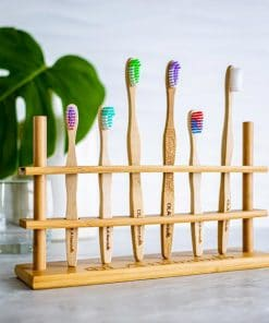 bamboo toothbrush holder for family