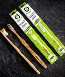 4-pack Bamboo Toothbrushes with recyclable packaging