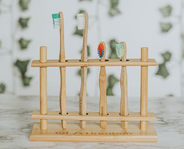 Bamboo products- toothbrush and holder