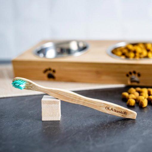 Brosse à dents en bambou pour animal de compagnie