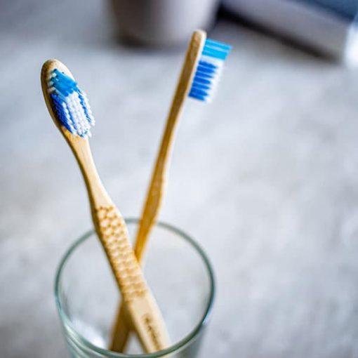 Paquet de 2 brosses à dents en bambou Ola Tech