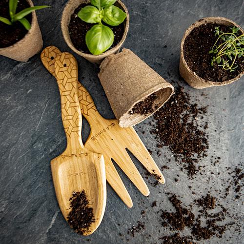perfect eco friendly gardening tools- shovel and rake