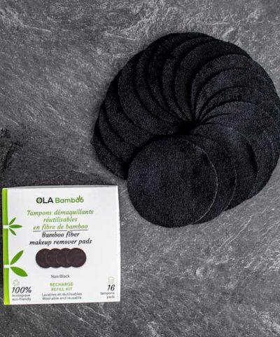 Bamboo fiber makeup remover pads